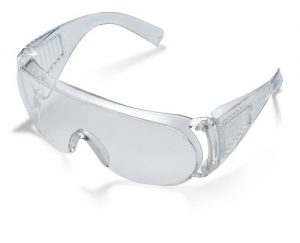 SAFETY SUNGLASSES CLEAR/GREEN-SILVER