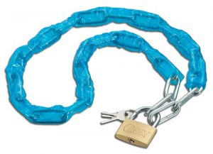 Brass Padlock with Chain