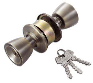 Entrance Door Lock Antique Brass