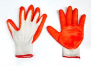 Cotton Gloves W/ Rubber Grip