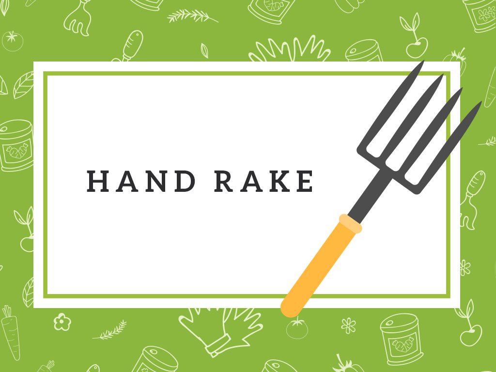 hand rake gardening tool