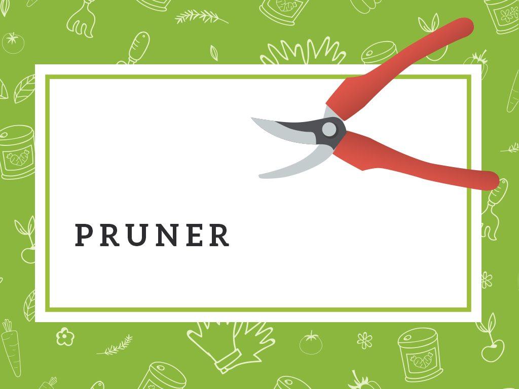 pruner gardening tools
