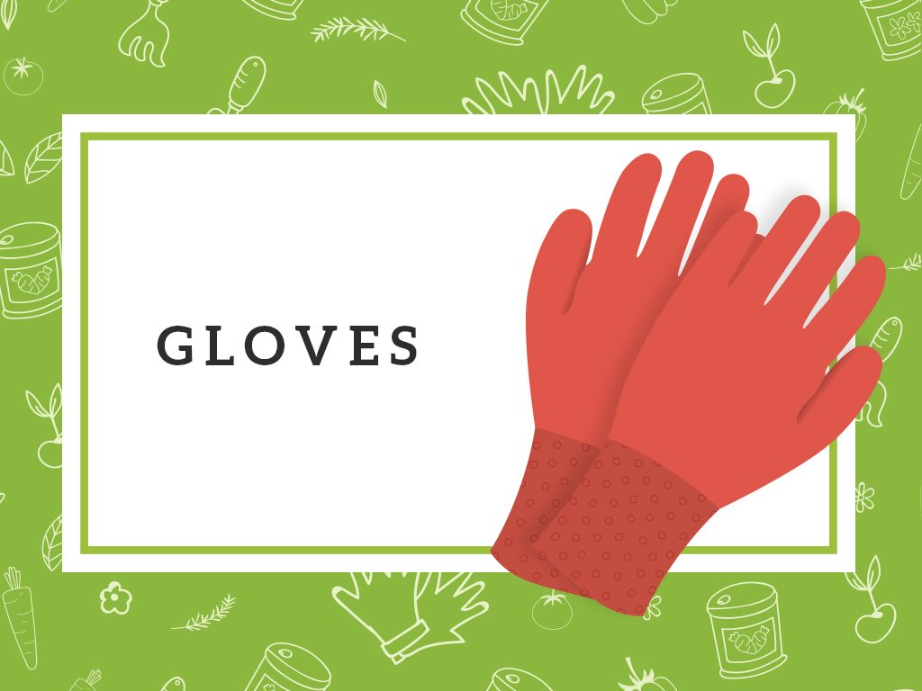 gloves gardening tools